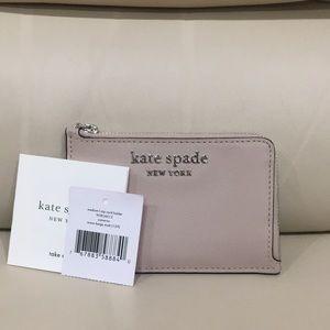 NWT Kate Spade Warm Beige Cameron Keychain Wallet